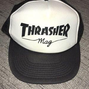VINTAGE Thrasher Magazine Trucker Snap Back